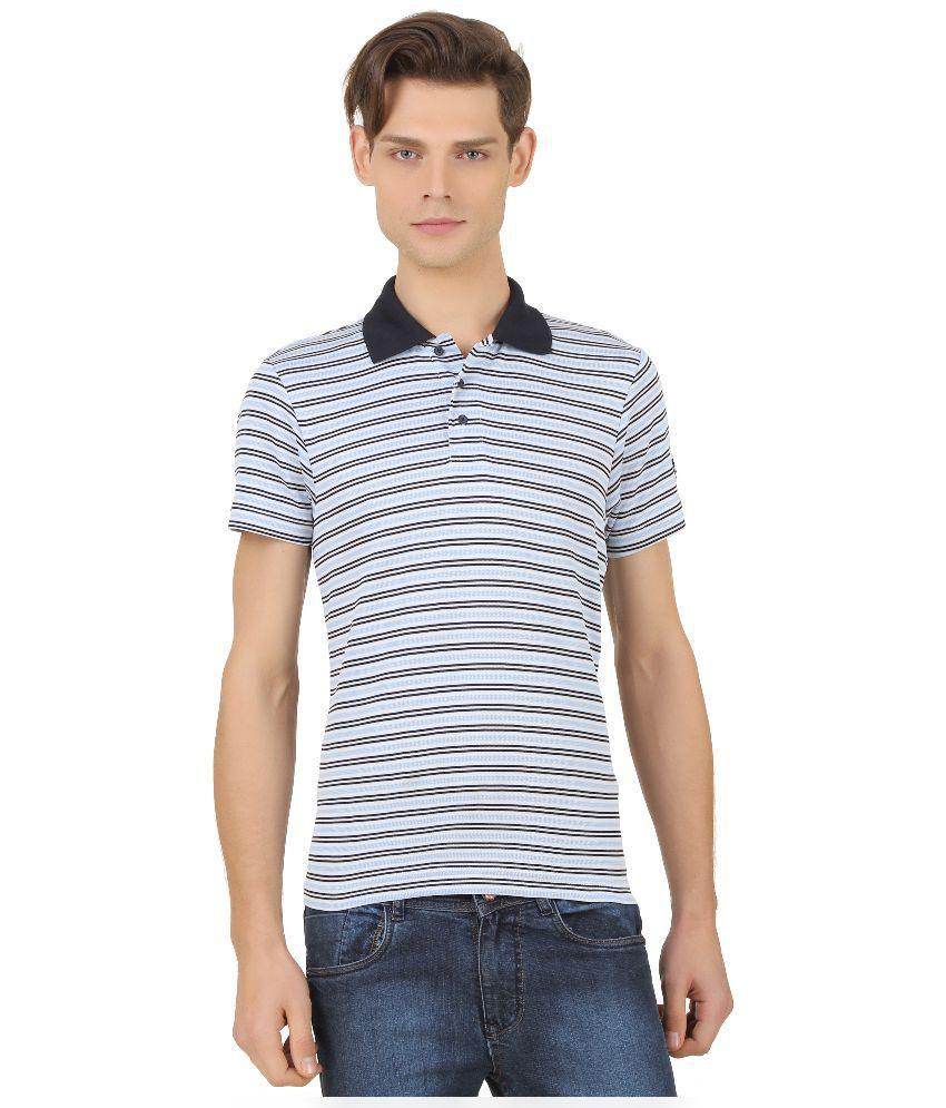 Adidas Blue Half Sleeves Polo T-Shirt