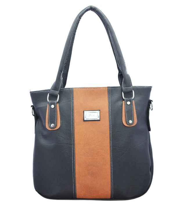 Lady Queen Black P.u. Shoulder Bags