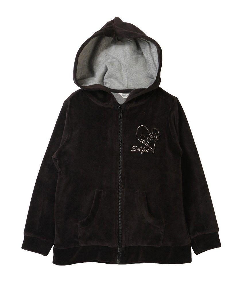 Beebay Black Blended Cotton Jacket