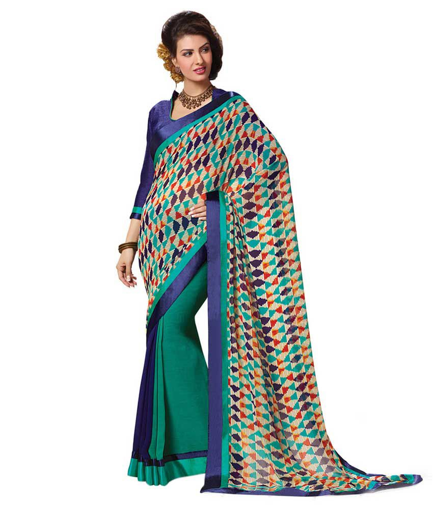 Indianbeauty Multicoloured Georgette Saree
