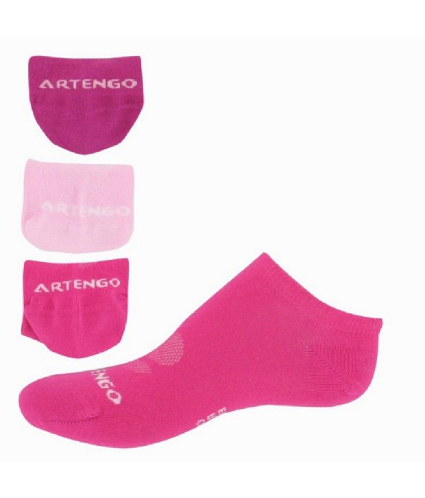 ARTENGO RS 750 Junior Court Badminton/Tennis Socks Pack Of 3
