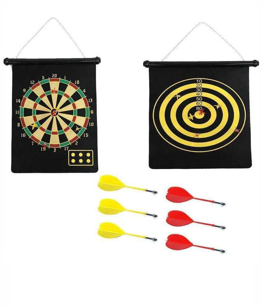 Magnetic Two Sided Dart Board Game with 6 Darts: Buy ...