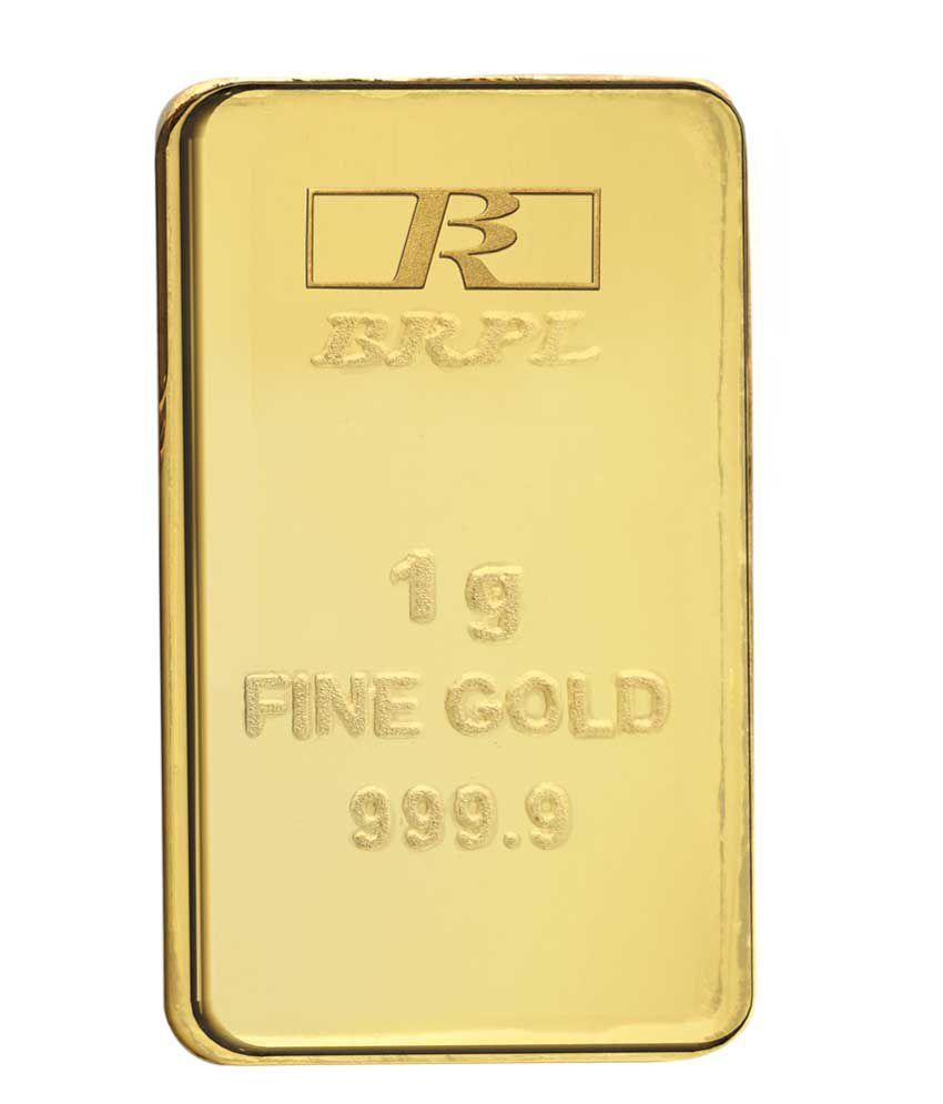 1 Gram 24kt 999 Purity Gold Bar