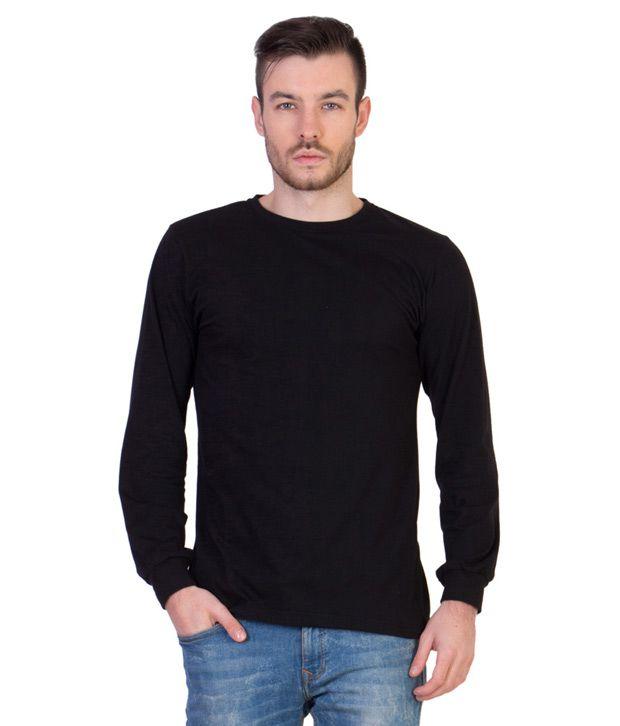 Acomharc Inc Black Cotton Full Sleeves T Shirt