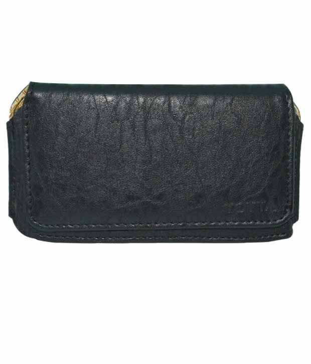Indiacod Holster Case For For Micromax Canvas 2 A110 - Black
