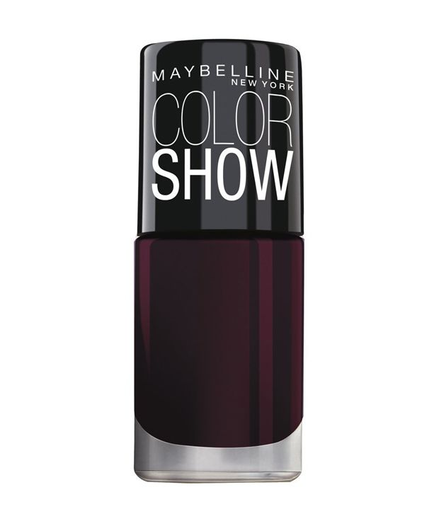 Maybelline Colorshow Brightsparks Molten Maroon 702 Nail Polish: Buy ...