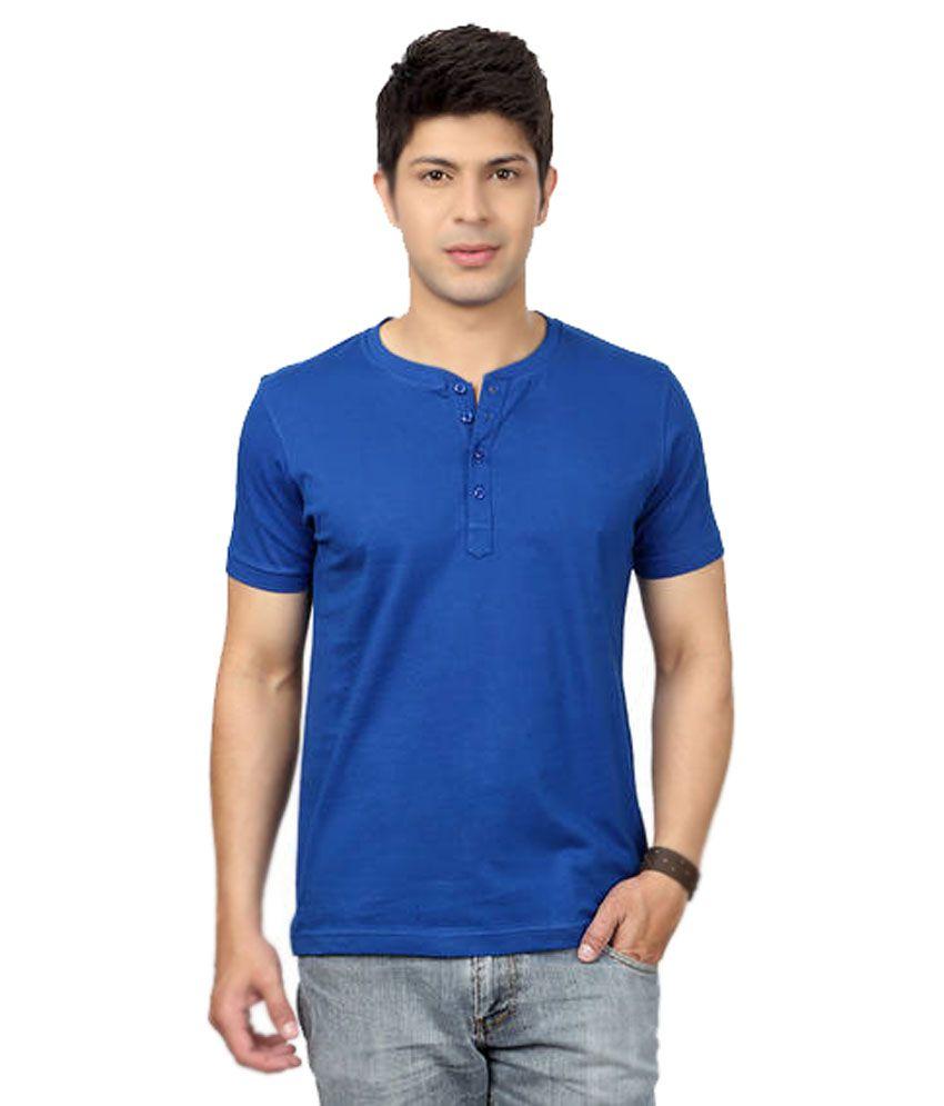 Banyan Roots Blue Cotton T- Shirt