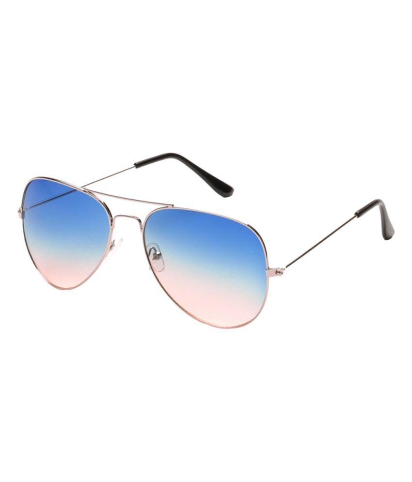 Barbarik Blue Medium Aviator Unisex Sunglasses