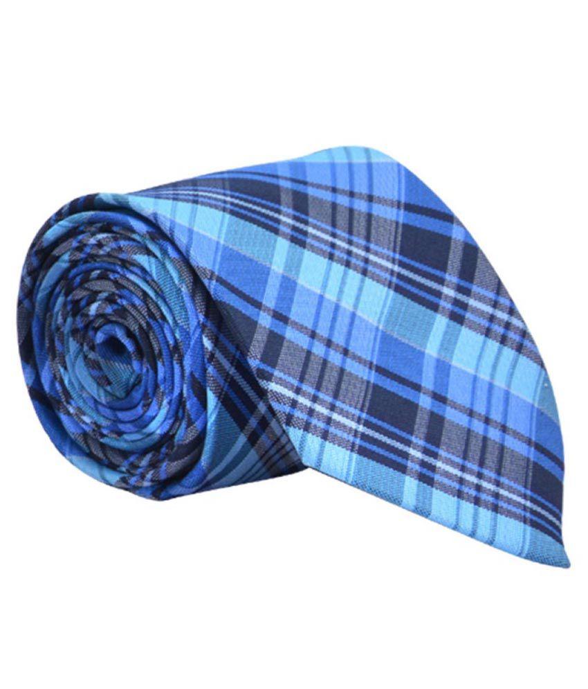 Calvadoss Blue Micro Fiber Formal Broad Ties