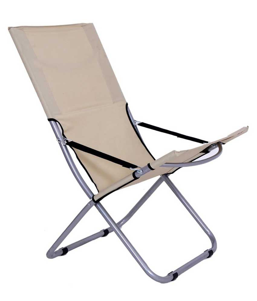 folding easy chair in beige rh snapdeal com