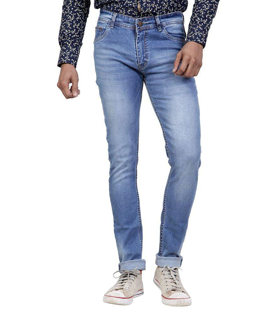 Zubery Jeans Blue Slim Fit Jeans Pack Of 15