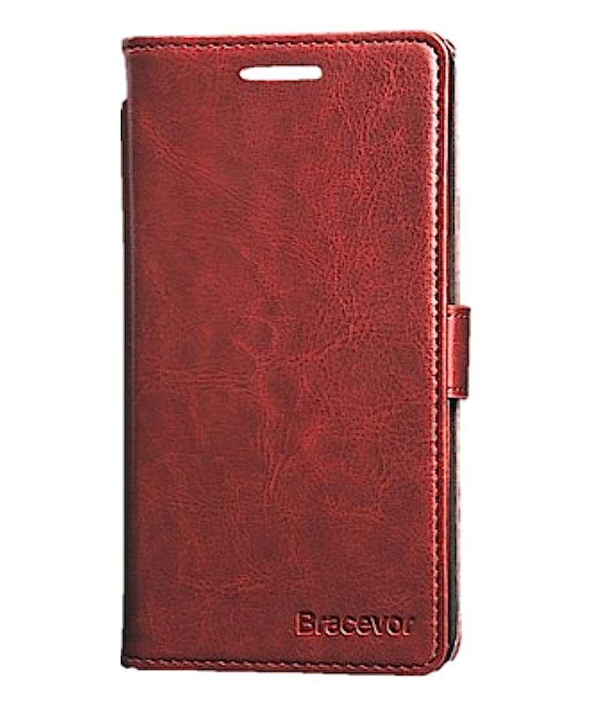 pretty nice de590 f40d3 OnePlus One Flip Cover by Bracevor - Brown