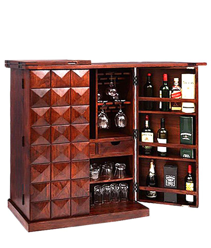 Ethnic India Art Solid Wood Bar Cabinet Buy Ethnic India Art Solid Wood Bar Cabinet Online At