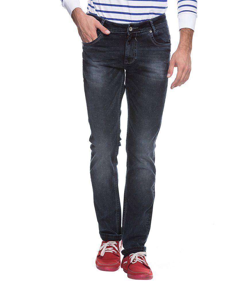 Mufti Black Slim Fit Jeans
