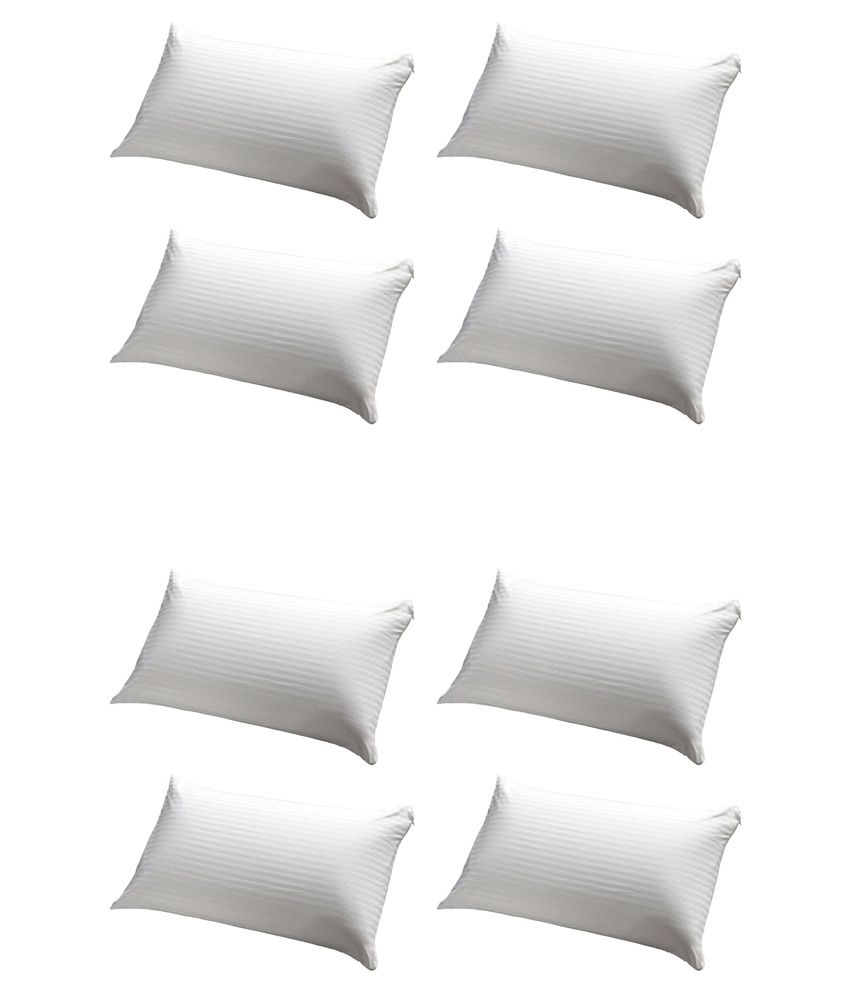 Jdx White Pillow Pack Of 8