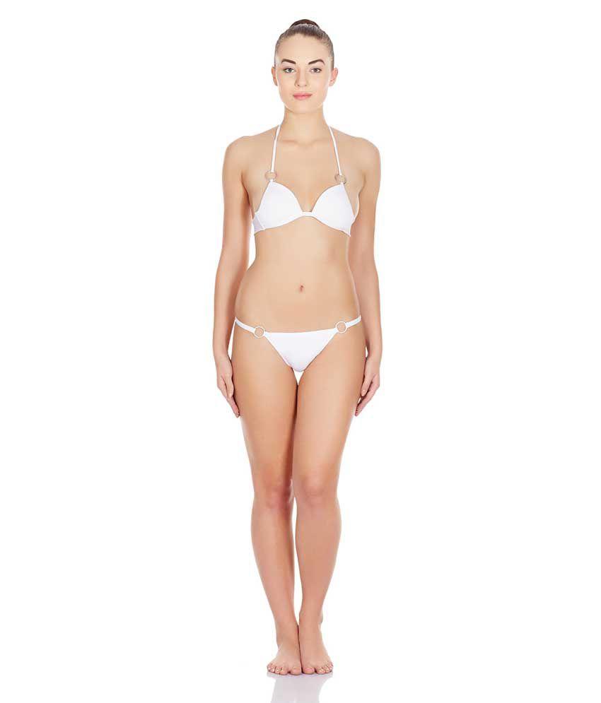 La Intimo White Lycra Panties