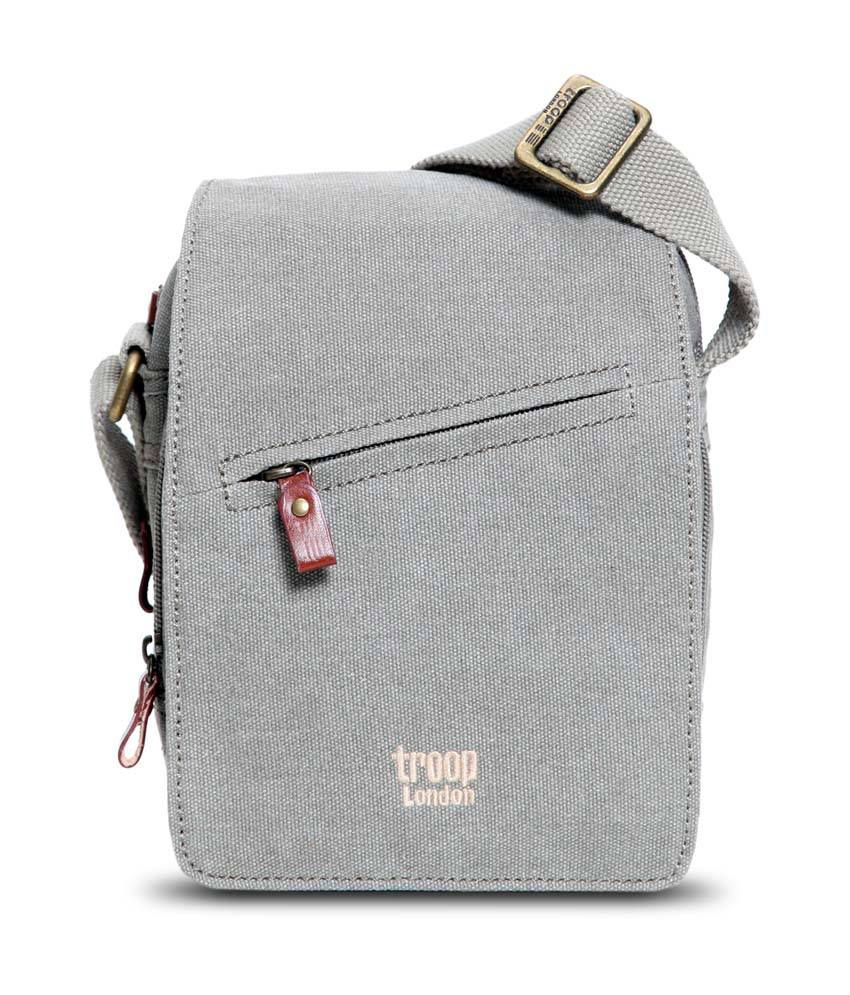 Troop London Khaki Canvas Sling Bag