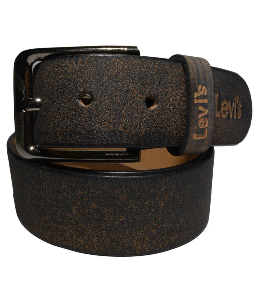Levi's Brown Leather Belt For Men