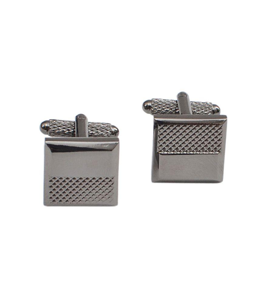 Alvaro Castagnino Grey Metal Enamel Cufflinks