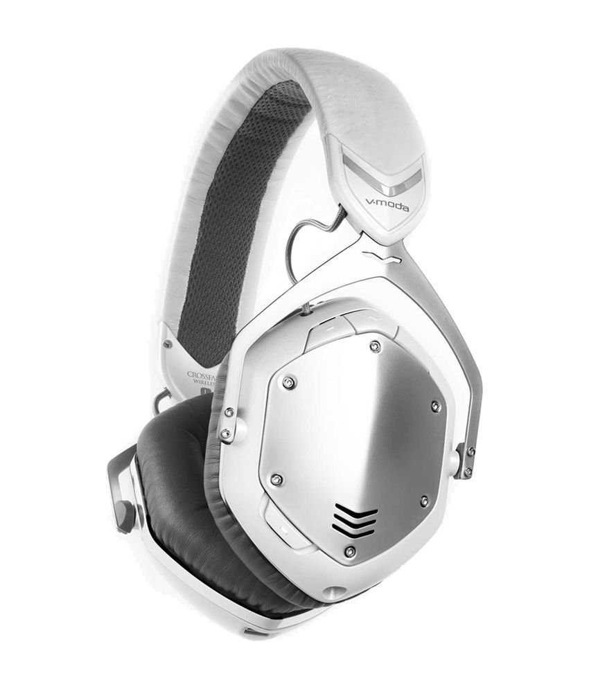V-MODA Crossfade Wireless Over-Ear Headphone- White and Silver