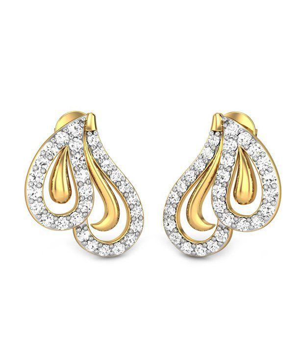 Candere Carina Diamond Earring 14k Yellow Gold