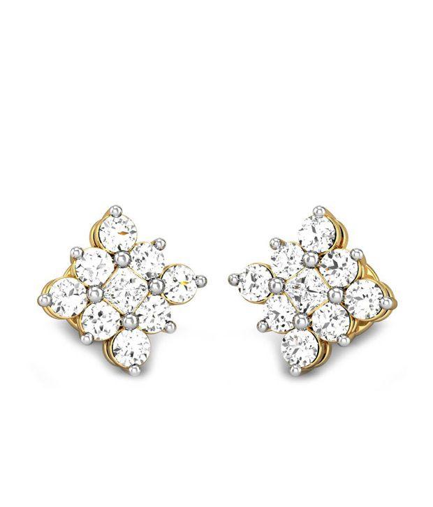 Candere Mridula Diamond Earrings 14k Yellow Gold