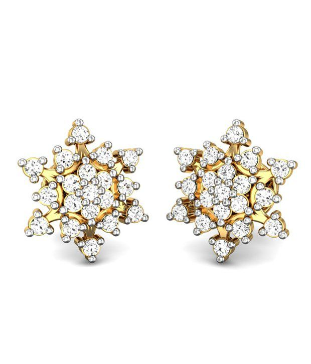Candere Netra Diamond Earring 14k Yellow Gold