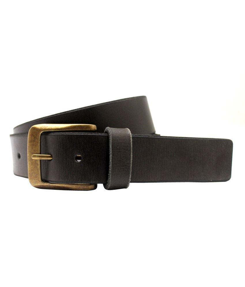 Lapalma Black Leather Formal Belt For Men