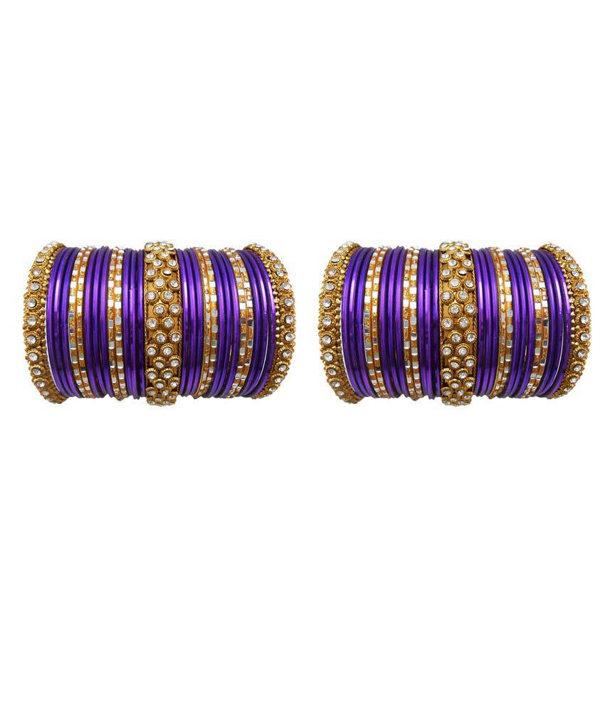 My Design Purple Alloy Bangle Set