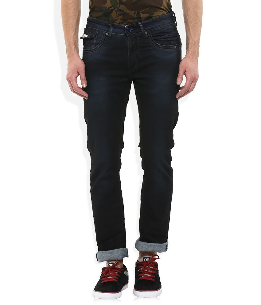 Spykar Navy Slim Fit Jeans