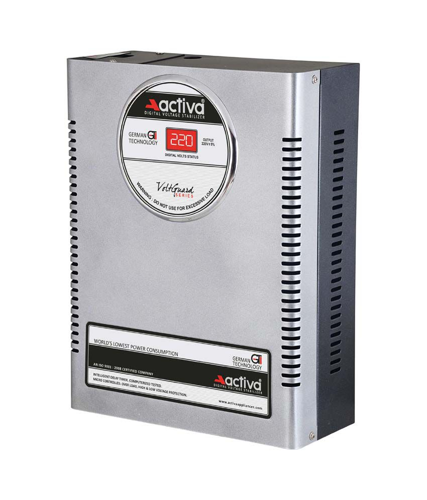 Activa Digital AC Voltage Stabliser 4 KVA /110 290 Volts   Silver