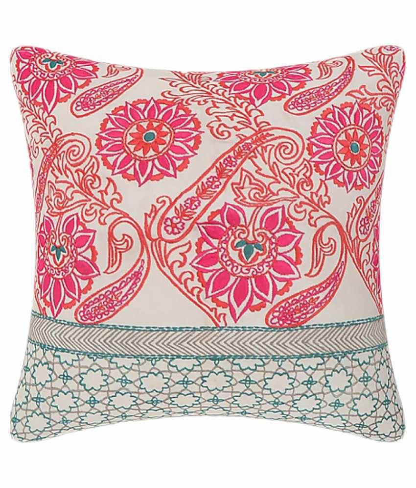 Cotton Treat Multicolor Cotton Cushion Cover - Set of 5