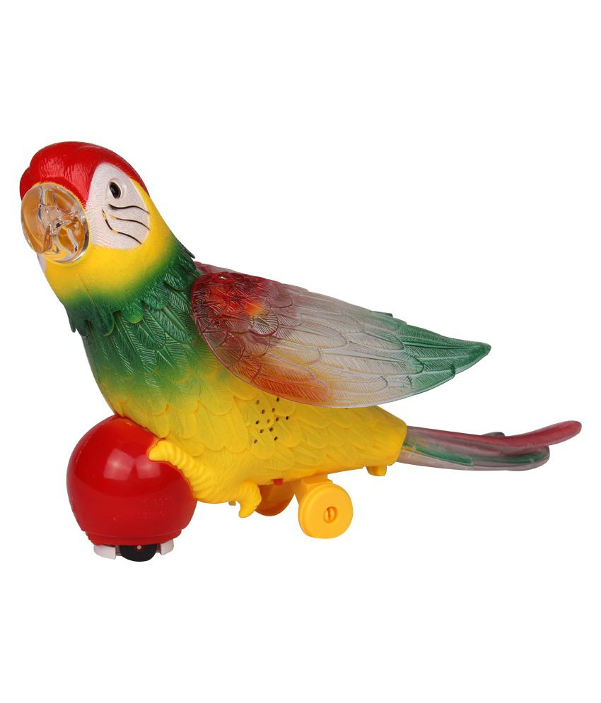 Rana Traders Rana Traders Multicolor Multicolour Plastic Electric Parrot