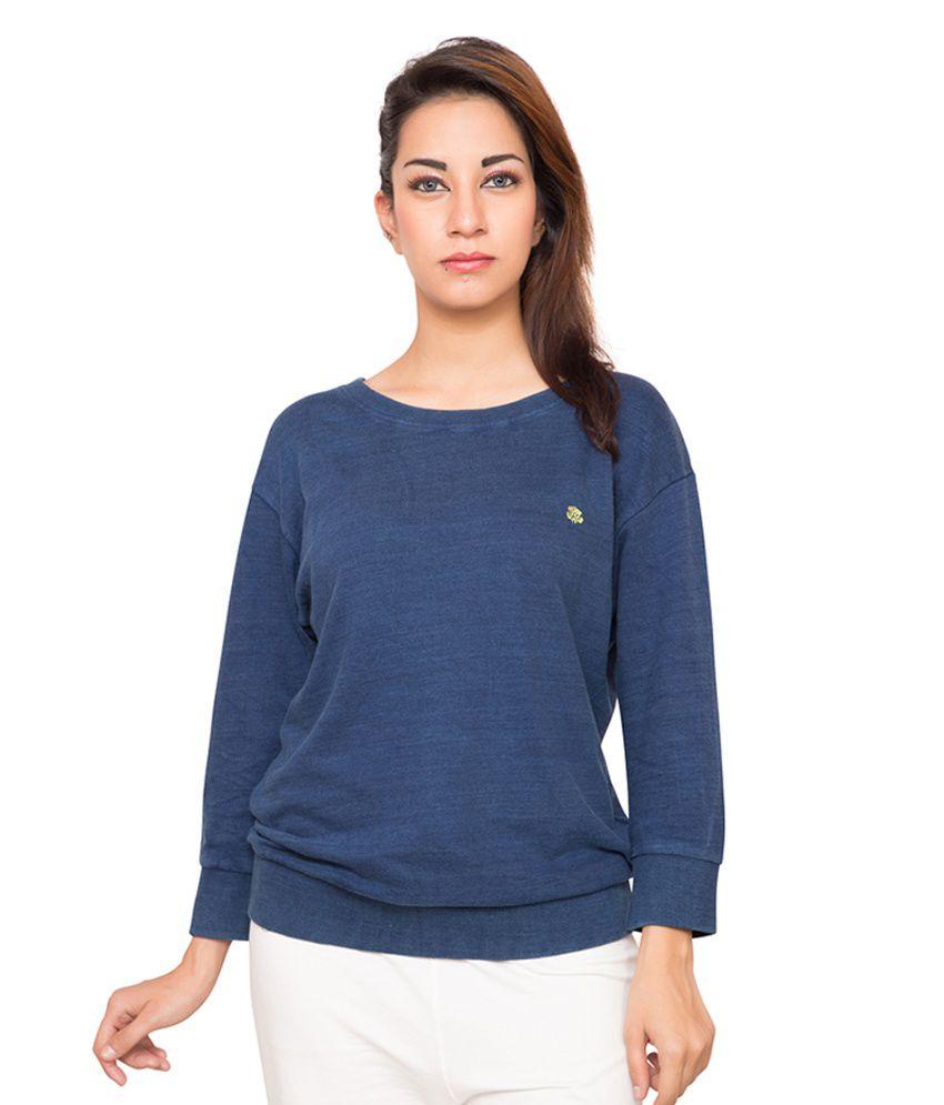 Foreveryoga Navy Round Neck Sweatshirt