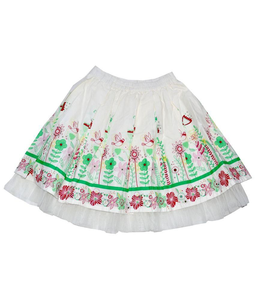 Young Birds White Skirt