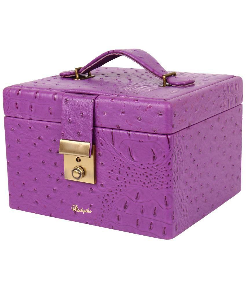 Richpiks Purple Wooden Jewellery Boxes