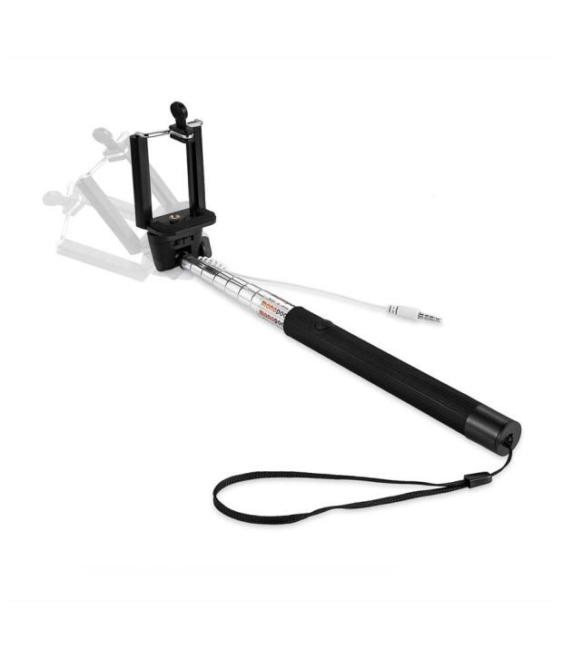KSJ Selfie Stick With Aux Cable Compatible