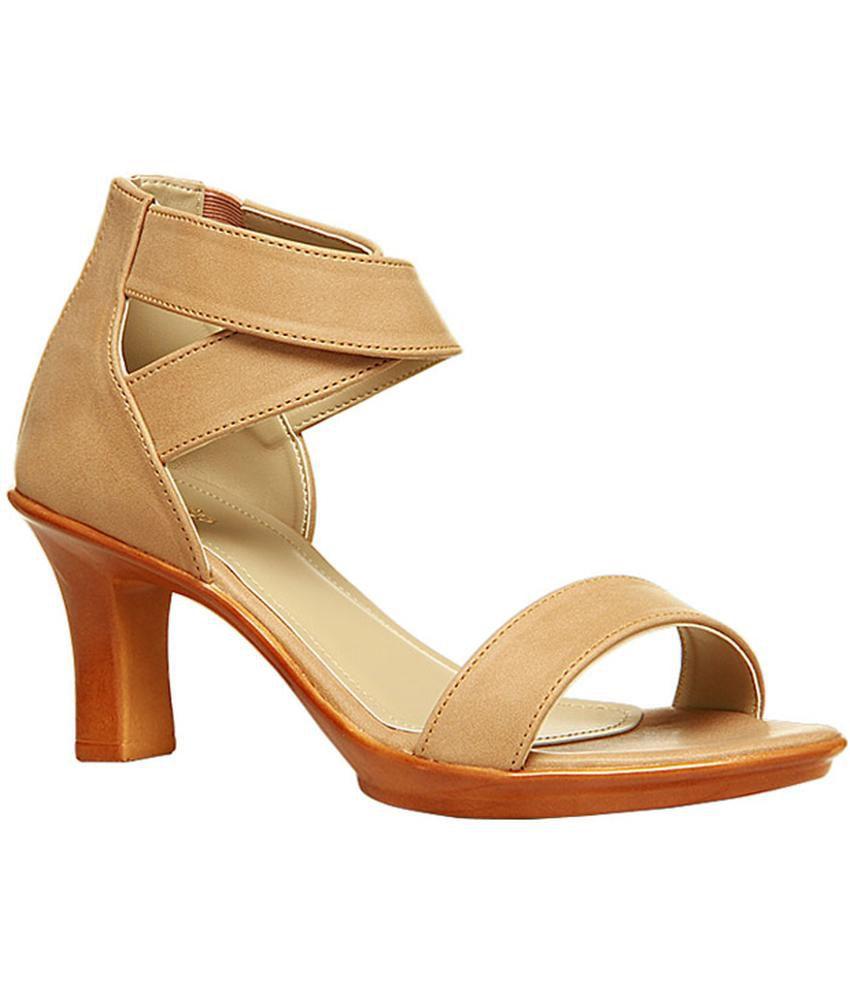 bf05ba209645 Bata Beige Block Heels Price in India- Buy Bata Beige Block Heels Online at  Snapdeal