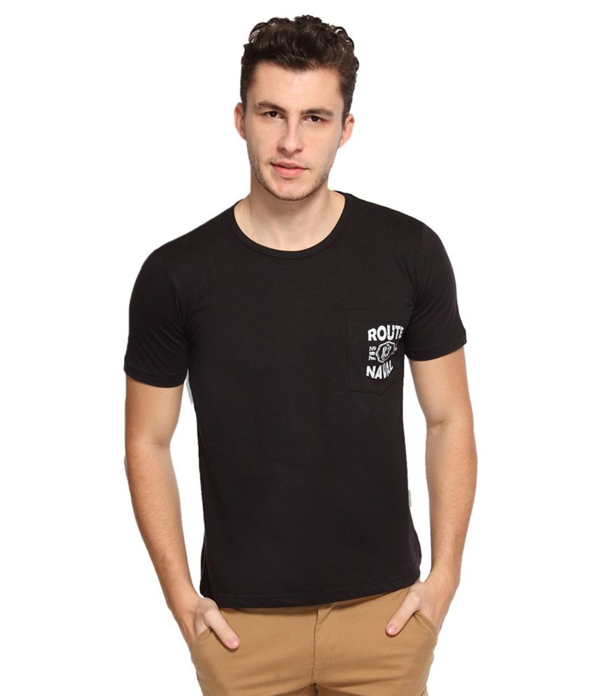 Afylish Black Cotton T-shirt