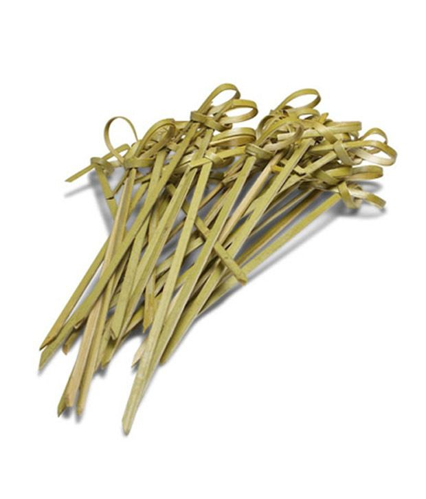 Ezee bamboo knot skewers 3 5 inches 300 pieces buy for Canape cocktail sticks