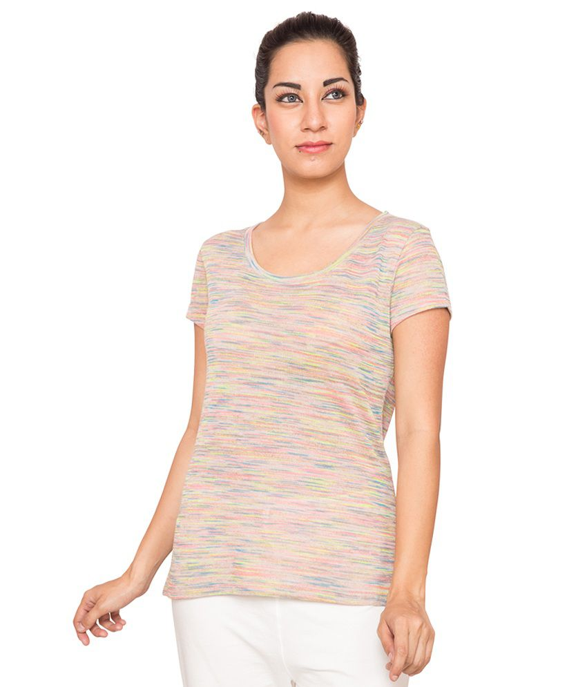 Foreveryoga Beige Space Dyed Tee