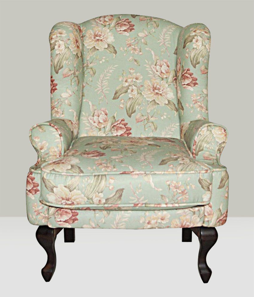 Ordinaire Bordeaux Beauty Wing Chair  Floral Print ...