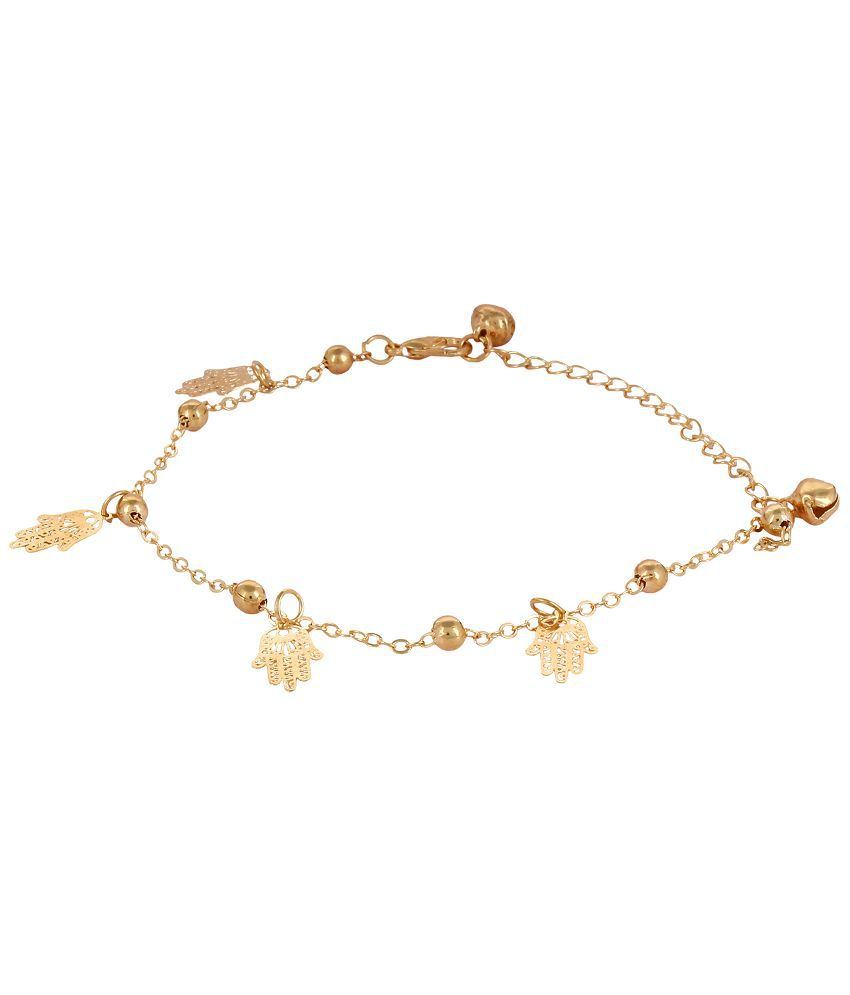 Fayon Party Style Diva Golden Fatima Hand Charms Foot Chain