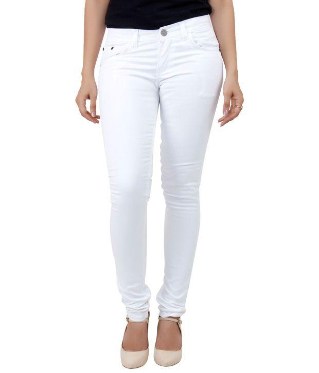 Haltung White Denim Lycra Jeans