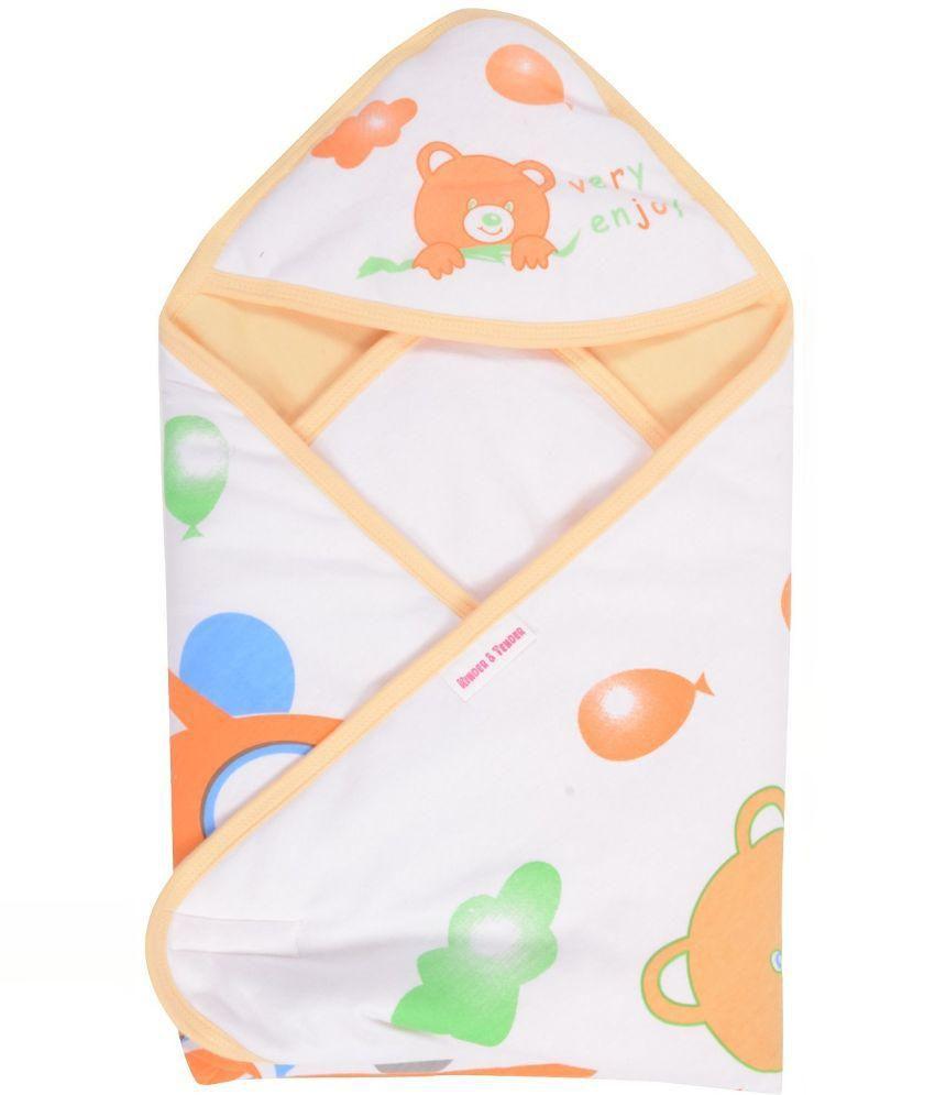 Kinder Orange and White Cotton Baby Wrap