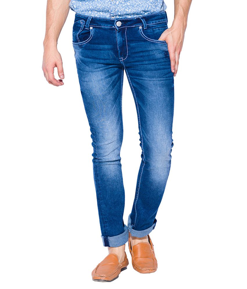 Mufti Blue Boot Cut Fit Jeans