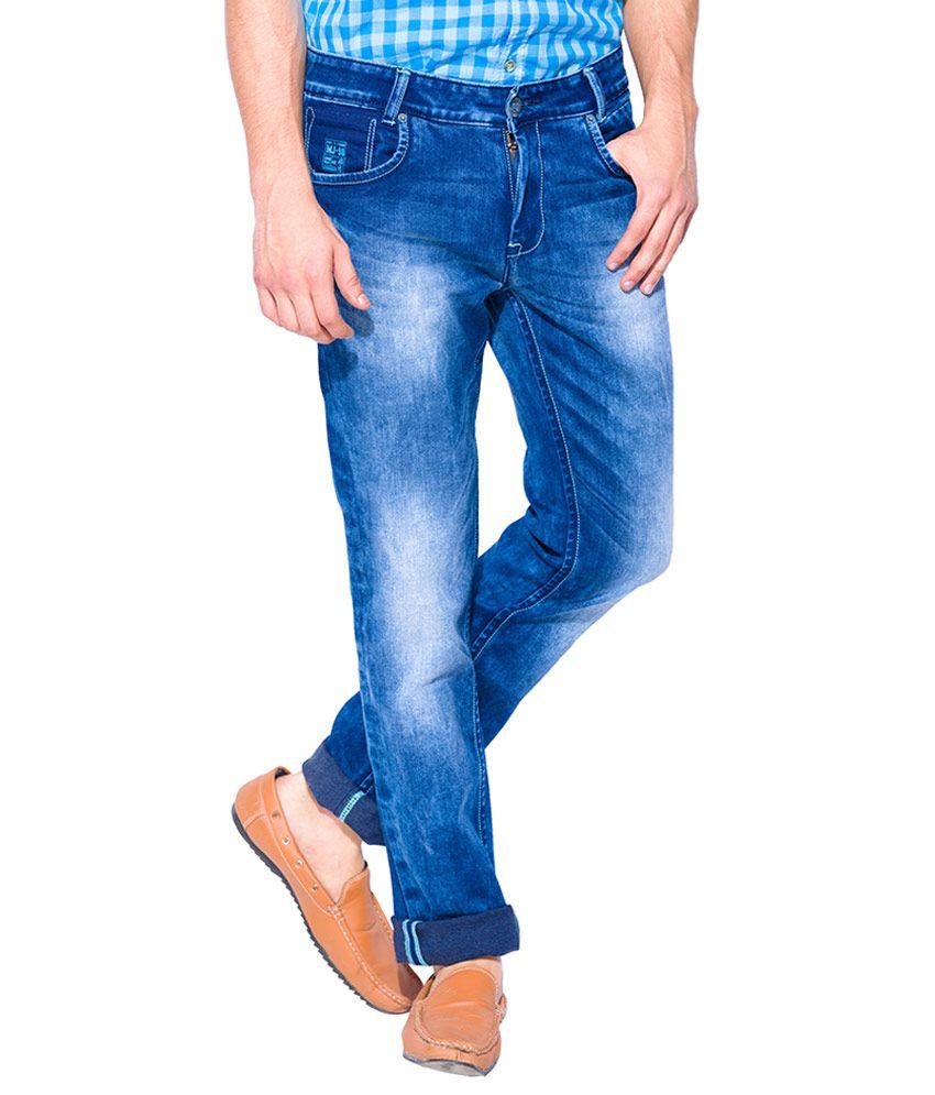 Mufti Blue Super Slim Fit Jeans