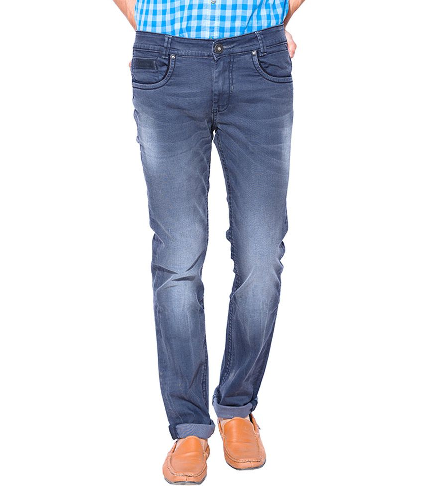Mufti Grey Super Slim Fit Jeans