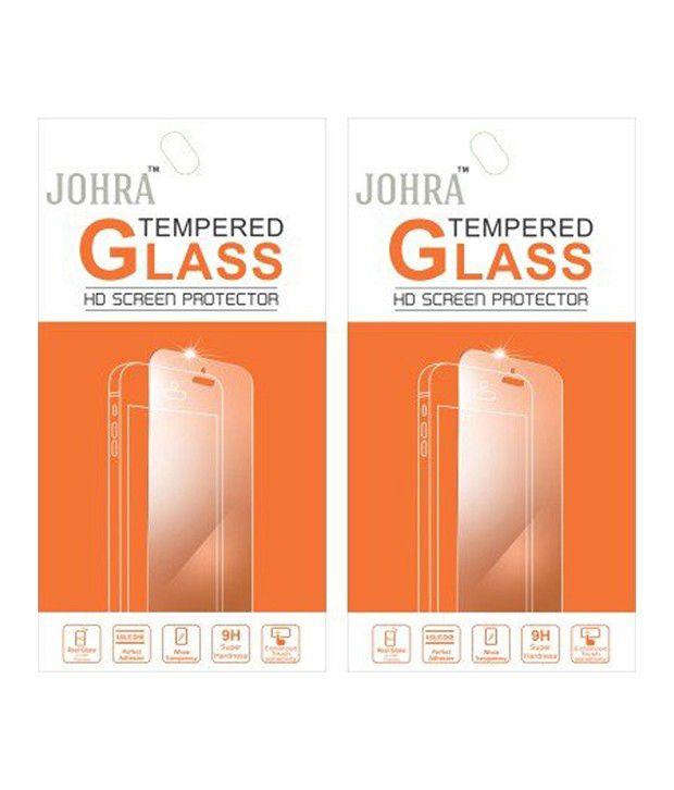 Johra Tempered Glass Screen Guard For Motorola Moto X Style - Set Of 2