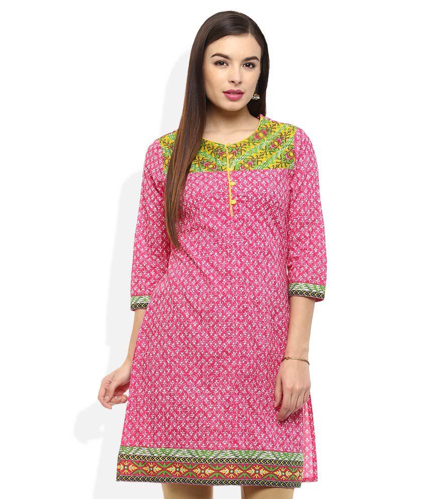 cae78fdab20 Rangmanch By Pantaloons Pink Printed Kurti Price in India